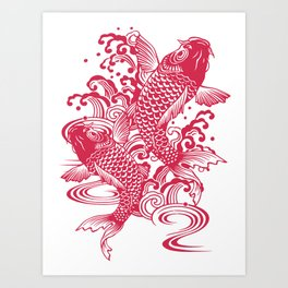 Red Koi Art Print