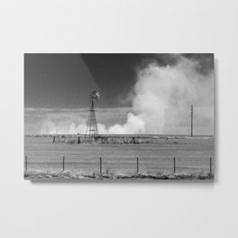 Fires in cultivated fields. Metal Print