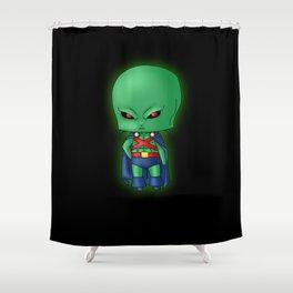 Chibi Martian Manhunter Shower Curtain