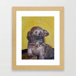 Yellow Asher Framed Art Print