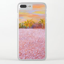 Cotton at Sunset Clear iPhone Case