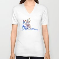 tinker bell V-neck T-shirts featuring Tinker Bell - My Glowing Love for You by Chien-Yu Peng