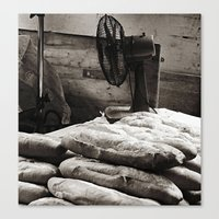 bread Canvas Prints featuring Bread  by Ethna Gillespie