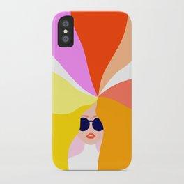 Girl Power - Rainbow Hair #girlpower iPhone Case