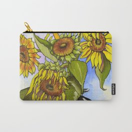 Sunflowers in a Black Vase by Amanda Martinson Carry-All Pouch