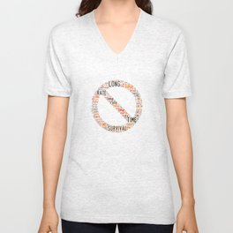 On a long enough time line, the survival rate for everyone drops to zero. Unisex V-Neck