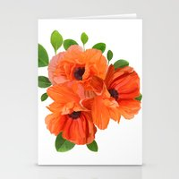 poppies Stationery Cards featuring Poppies by Heaven7