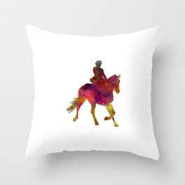 Horse show 03 in watercolor Throw Pillow