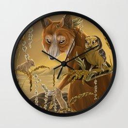 solar owls ceres  Wall Clock