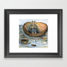 Wooden Bowl on the Sea Framed Art Print