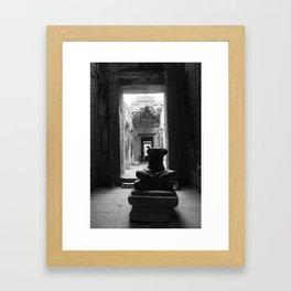 A portrait of Angkor Framed Art Print