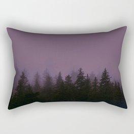 Alaska Fog 0388, EggPlant Rectangular Pillow