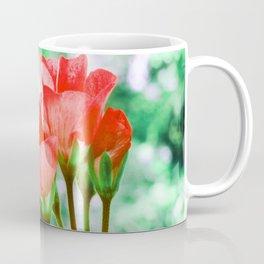 Red FloWERS Bokeh Sparkle Coffee Mug