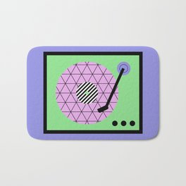 Play That Retro Geometric Vinyl Bath Mat