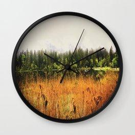 autumn field Wall Clock