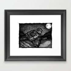 heavy birds Framed Art Print