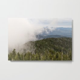 Fog rolling in over the Smoky Appalachian Mountains Metal Print