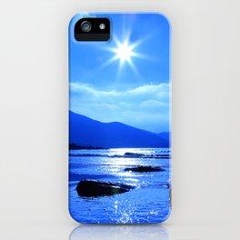 Beach In Blue iPhone Case