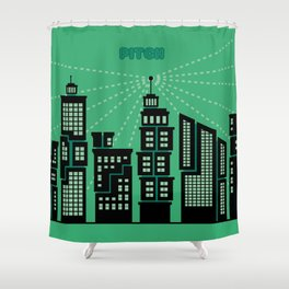 Pitch : Une vision digitale Shower Curtain