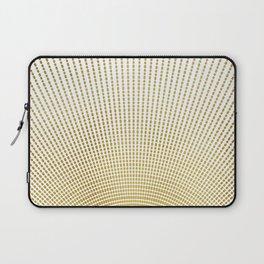 Golden Retro Sunburst Laptop Sleeve