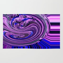 BLUE PURPLE ABSTRACTION Rug