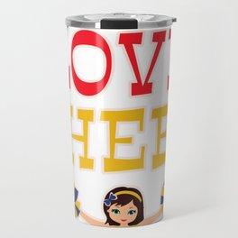 Cheerleader Cheerleading Gift Dance Football Travel Mug