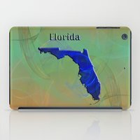 florida iPad Cases featuring Florida Map by Roger Wedegis