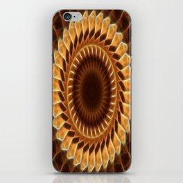 Brown Tan Gold Kaleidoscope Art 5 iPhone Skin