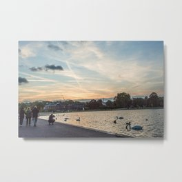 A slow summer sunset at Hyde Park Metal Print