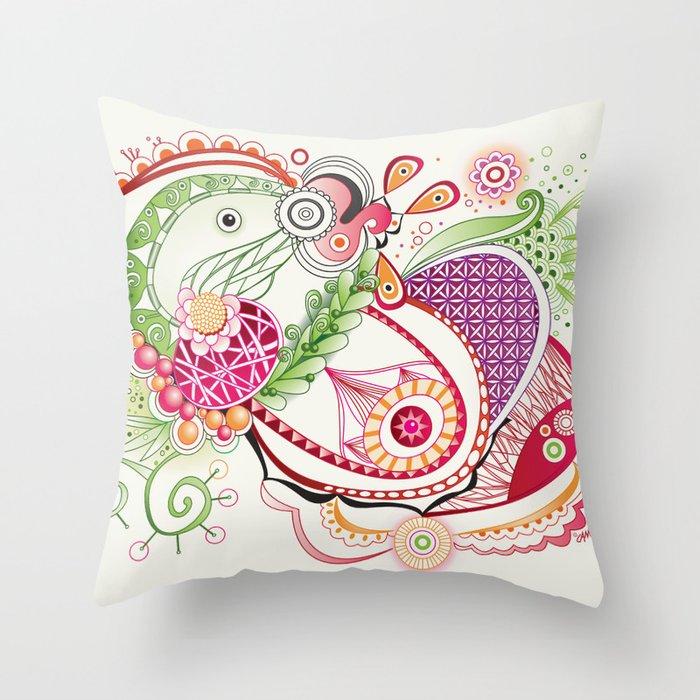 Spring tangle Throw Pillow