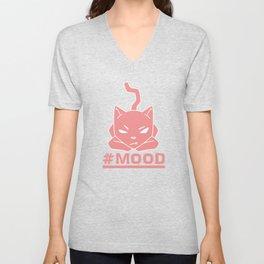 #MOOD Cat Pink Unisex V-Neck
