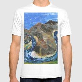 Riggins Idaho (palette knife) T-shirt