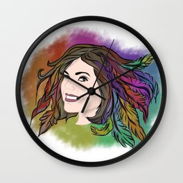 Lana Parrilla - Feathers of Hope Wall Clock