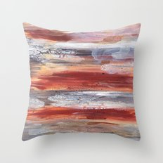 Rock Study in Browns Throw Pillow