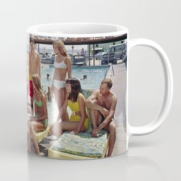 1960's teenagers playing guitar and singing by the Gondolier Motel pool, Wildwood, NJ Coffee Mug