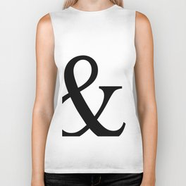 Typography, Ampersand, And Sign Biker Tank