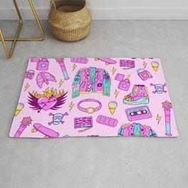 Pink Punk Girly Pattern Rug