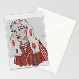 The Dig Dug Girl Stationery Cards