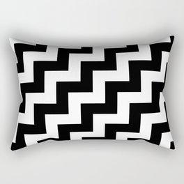 White and Black Steps RTL Rectangular Pillow