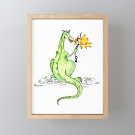 Dinosaur S'Mores Children's Art Framed Mini Art Print
