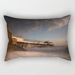 Cromer Pier at dawn Rectangular Pillow