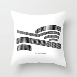 Frank - A is for Architecture Throw Pillow