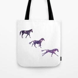 Universe in Running Horse Tote Bag