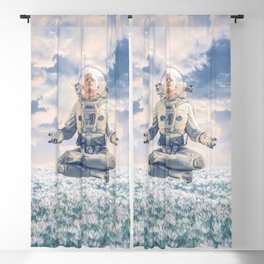 Dreamer In The Field Blackout Curtain