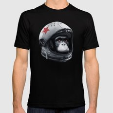 Astro Chimp Mens Fitted Tee MEDIUM Black