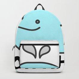 Oh Whale Funny Cute Pun Ocean Animal Cartoon Beach Backpack