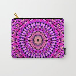 Pink and Purple Gravel Mandala Carry-All Pouch