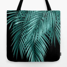 Palm Leaves Teal Night Vibes #1 #tropical #decor #art #society6 Tote Bag