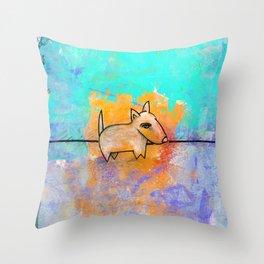 Dog No.1 by Kathy Morton Stanion Throw Pillow
