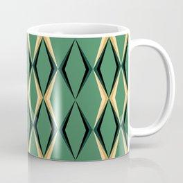 Art Deco Green & Gold Coffee Mug